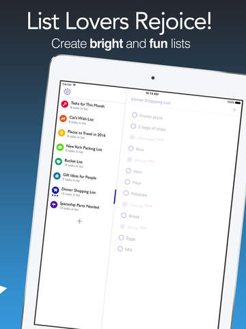 Awesome Lists Lite - To Do + Simple Checklists Screenshots