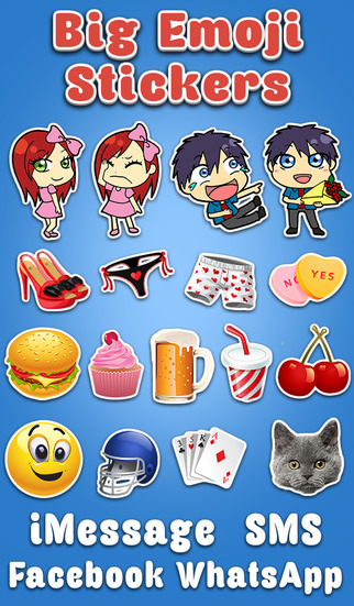 Big Emoji Stickers - for Texting SMS Facebook Twitter Messaging