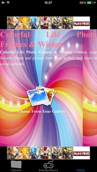 Colorful Life Photo Frames DIY