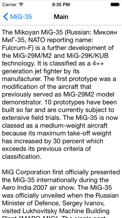 Russian Military Aircraft Appreciate Guide For iPhone iPhone Screenshot 4