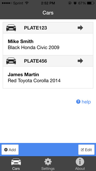 DMG Car Lookup App