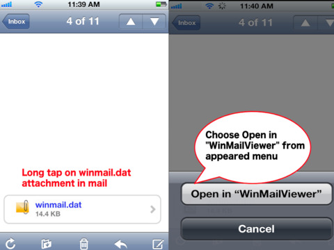 winmail.dat attachment how to open on iphone ipad