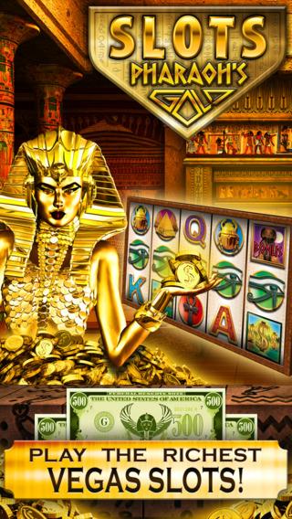Slots Pharaoh's Gold PRO Vegas Slot Machine Games - Win Big Bonus Jackpots in this Rich Casino of Lu