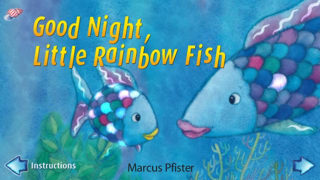 Rainbow Fish - Good Night Little Rainbow Fish by Marcus Pfister