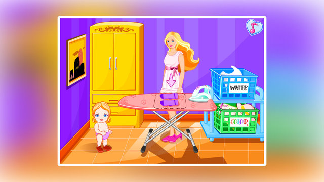 Barbie Laundry For Her Baby
