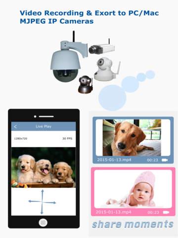 BabyMonitor Pro: Multi IPCamera Video Recording & Export Screenshots