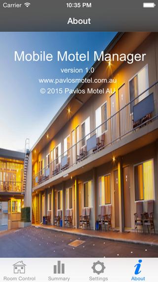 Free Mobile Motel Manager from Pavlos Motel AU