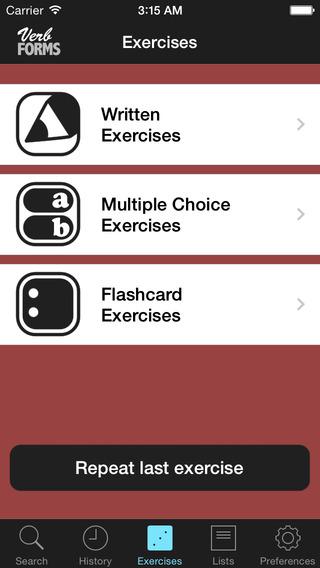 VerbForms Español iPhone Screenshot 5