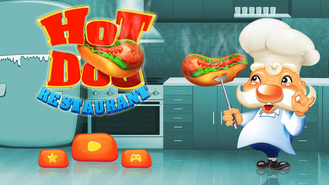 Hot Dog Restaurant - Make fast food on the street in this crazy kitchen cooking game