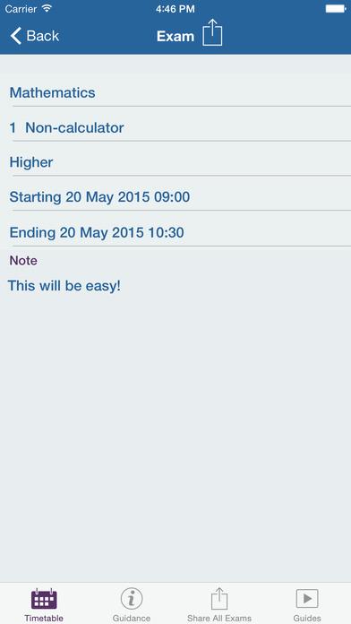My Exams iPhone Screenshot 2