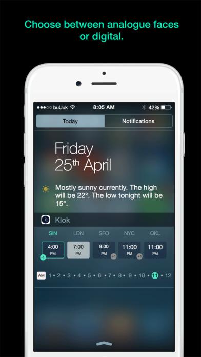 Klok - Time Zone Converter Widget Screenshot