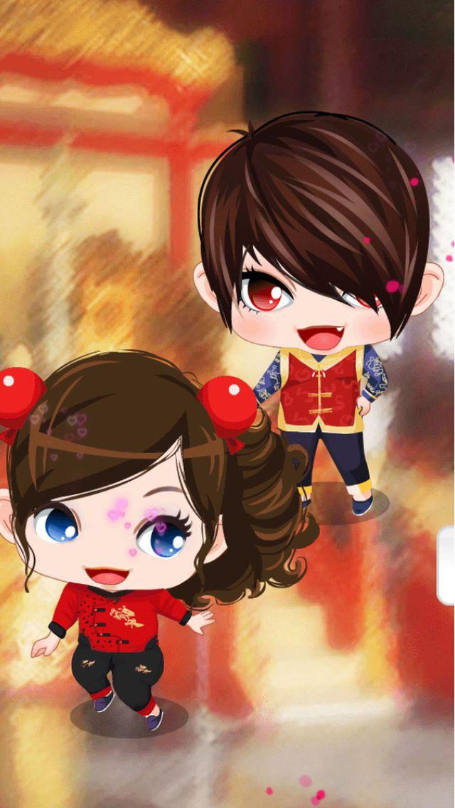 宝贝过新年-可爱双胞胎中国风