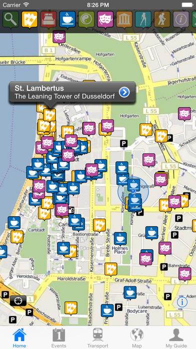 Dusseldorf Travel Guide Offline iPhone Screenshot 1
