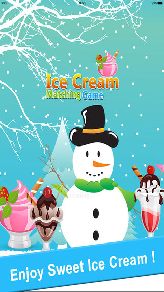 Ice Cream Matching Game : Fun Pairs Card For Girls Kids