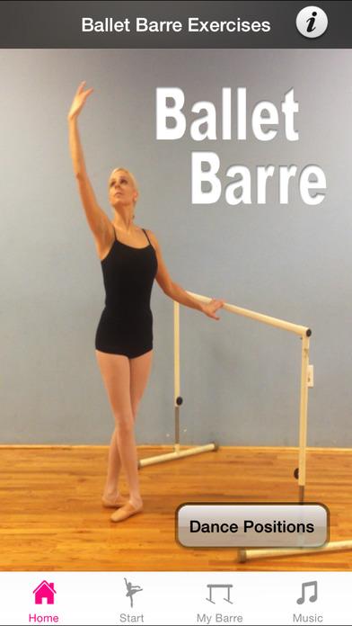 Ballet Barre Exercises iPhone Screenshot 1