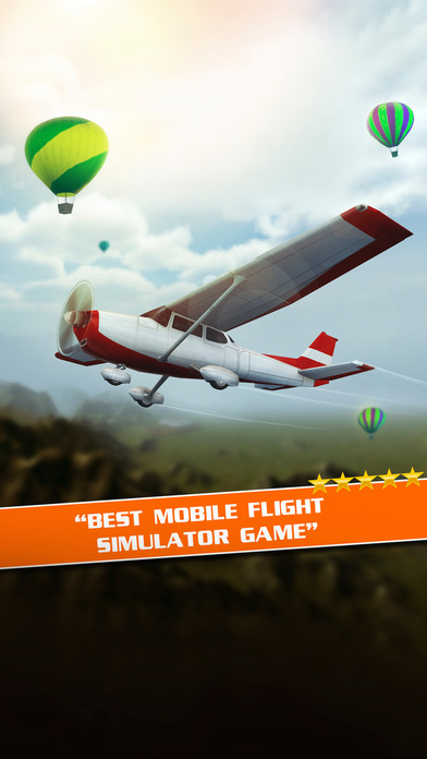 Screenshots of Flight Pilot Simulator 3D by Fun Games For Free for iPhone
