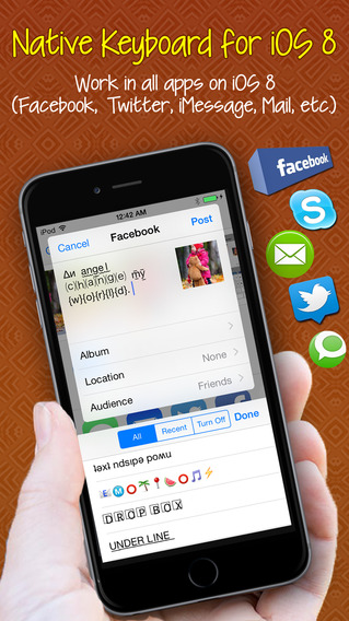 Font Keyboard ™ Pro - native keyboard extension for iOS 8