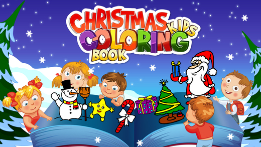 Christmas Kids Coloring Book
