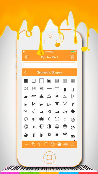 Symbol Pad - Unicode Smileys Icons Characters Symbols Keyboard for WhatsApp