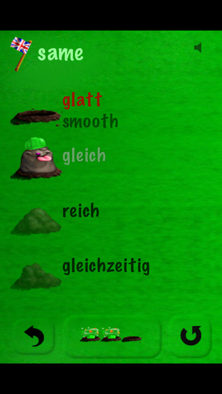 German with Vocab Mole iPhone Screenshot 1
