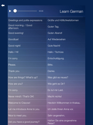 Learn GERMAN Fast and Easy - Learn to Speak German Language Audio Phrasebook and Dictionary App for Beginners Screenshots