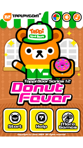 塌屁熊甜甜圈:Donut Fever – Tappi Bear【考验反应】