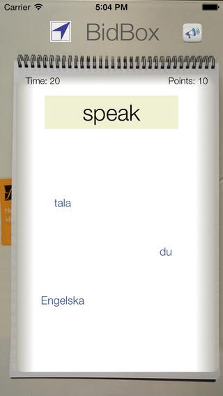 BidBox Vocabulary Trainer: English - Swedish iPhone Screenshot 2