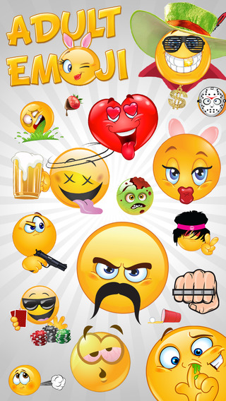 Adult Emoji Icons - Funny Texting Dating Emoticons Symbols