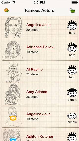 Learn To Draw : Most Famous Actors
