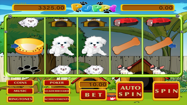 Puppy Dog Pet Slots - Deluxe Casino Slot Machine and Bonus Games FREE