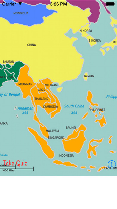 myAsia – Learn the capitals and countries of Asia iPhone Screenshot 2