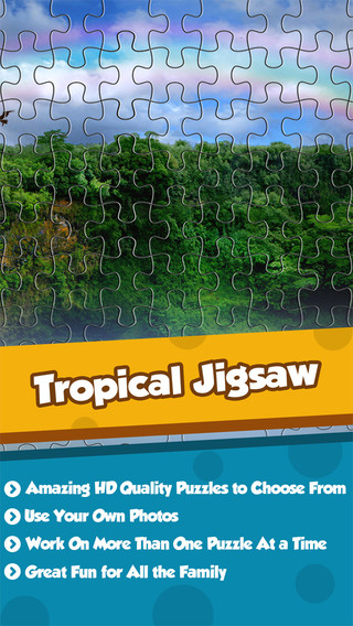 Top Jigsaw Puzzle With Tropical Adventures World
