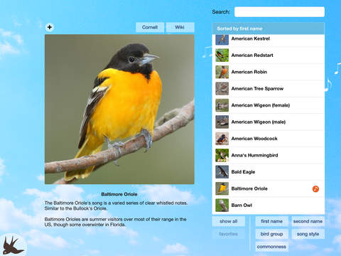 Chirp! Bird Song USA + screenshot