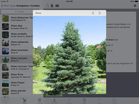 Landscaper's Companion for iPad - Plant & Gardening Reference Guide Screenshots