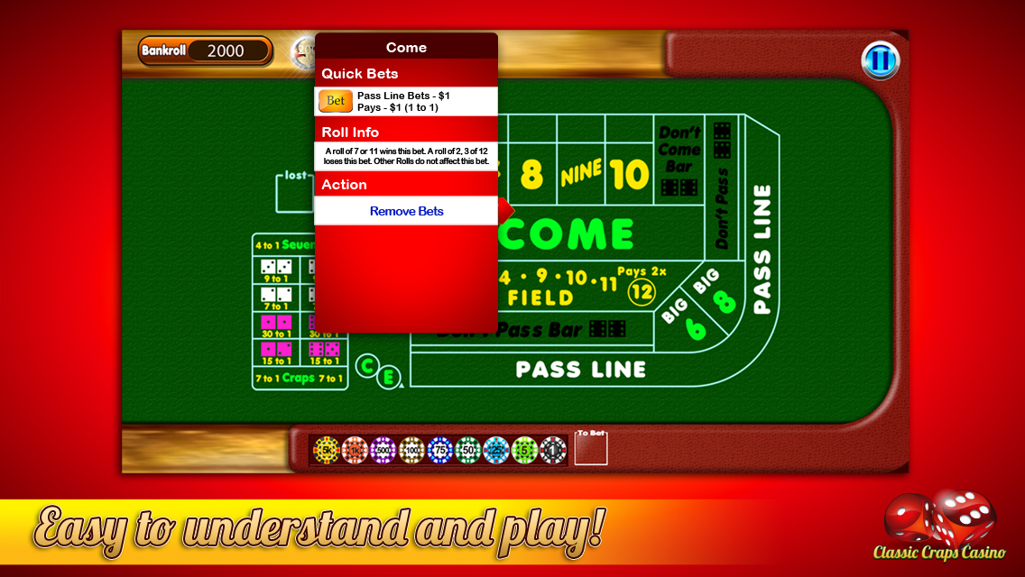 Craps iphone app
