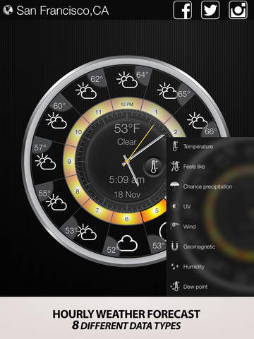 Weather & clock free widget screenshot