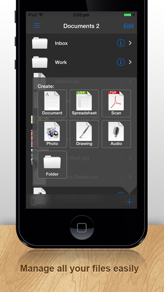 Documents 文件 PRO 7:免费Office Word Excel文件管理器升降梭箱,盒,