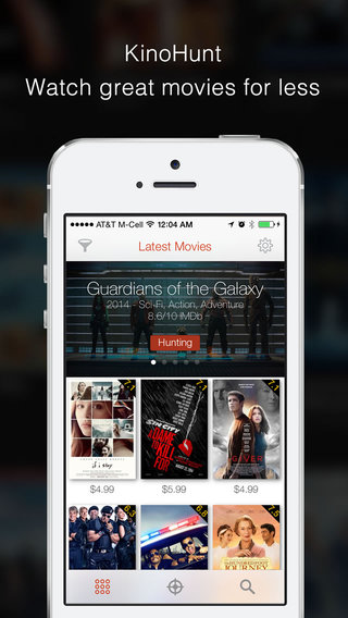 KinoHunt - Movie price tracker watchlist for iTunes and Amazon