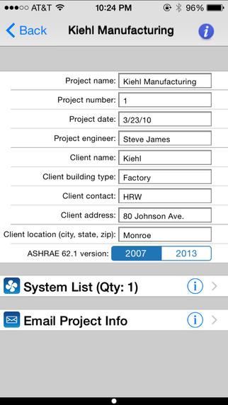 HVAC ASHRAE 62.1 iPhone Screenshot 5