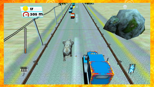 Elephant Traffic Safari:Collect coins and enjoy th