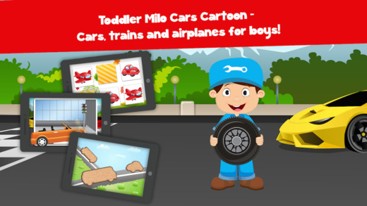 Toddler Milo Cars trains and planes puzzles Pro