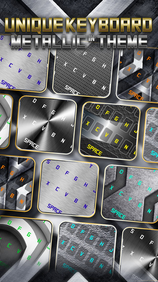 KeyCCM – Stainless Steel : Custom Color Wallpapers Keyboard Metallic Themes For Design Iron Style