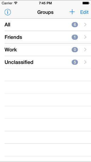 TrueContactLite iPhone Screenshot 1