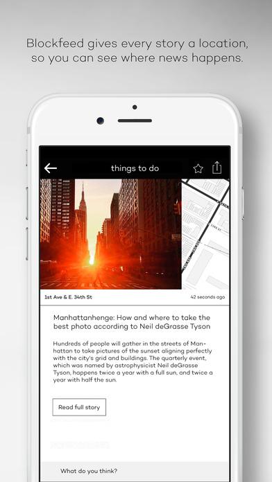 Blockfeed – the NYC news app screenshot