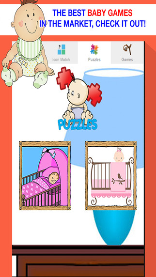 Cute Baby Games for Little Girls - Toddler Puzzles and Sounds