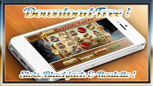 Awesome Pirate Girls Roulette Slots Blackjack Jewery Gold Coin$