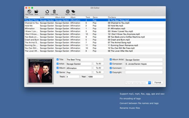 iD3 Editor - 音频文件标签编辑[OS X]丨反斗限免