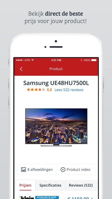 Kieskeurig.nl Productchecker iPhone Screenshot 4
