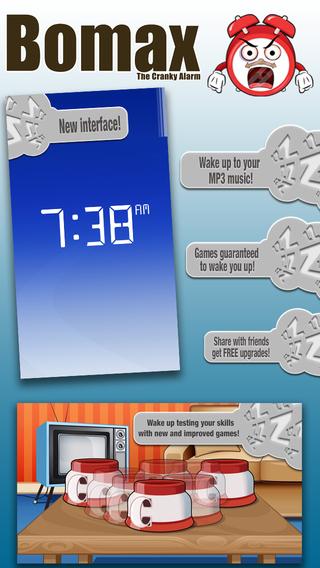 赖床克星 – 古怪的闹钟 Bomax – The Cranky Alarm Clock [iPhone]