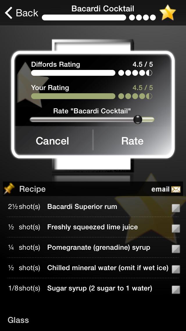 Cocktails made easy screenshot for App cocktail